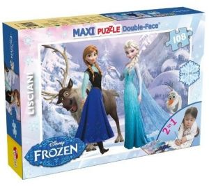 Puzzle Lisciani  108 dílků MAXI  - oboustranné -  Frozen  46904