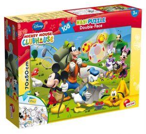 Puzzle Lisciani  108 dílků MAXI  - oboustranné - Mickey  48267