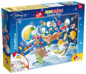 Puzzle Lisciani  108 dílků MAXI  - oboustranné - Mickey II  48298