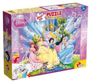 Puzzle Lisciani  108 dílků MAXI  - oboustranné - Princezny  48274