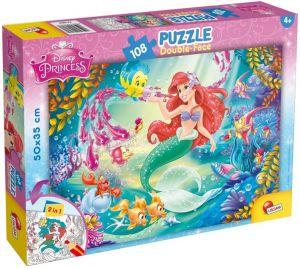 Puzzle Lisciani  108 dílků - oboustranné - Arielka - 48069