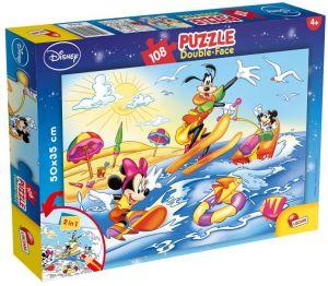 Puzzle Lisciani  108 dílků - oboustranné - Mickey - 47956