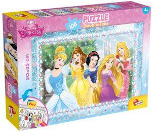 Puzzle Lisciani  108 dílků - oboustranné - Princezny - 47963