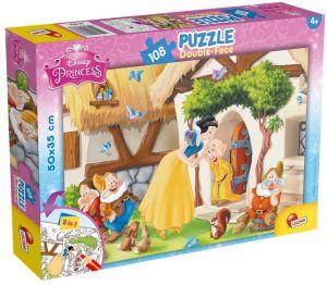 Puzzle Lisciani  108 dílků - oboustranné - Sněhurka - 48038