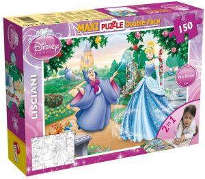 Puzzle Lisciani  150 dílků MAXI  - oboustranné - Popelka   46720