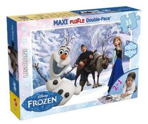 Puzzle Lisciani  35 dílků MAXI  - oboustranné - Frozen   46850