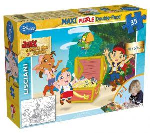 Puzzle Lisciani  35 dílků MAXI  - oboustranné - Jake a piráti  46508