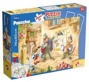 Puzzle Lisciani  35 dílků MAXI  - oboustranné - Pinocchio  48182
