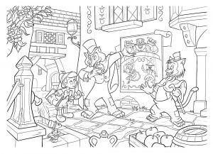 Puzzle Lisciani 35 dílků MAXI - oboustranné - Pinocchio 48182 Lisciangiochi