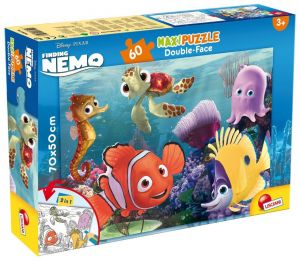Puzzle Lisciani  60 dílků MAXI  - oboustranné - Hledá se Nemo  48243