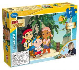 Puzzle Lisciani  60 dílků MAXI  - oboustranné - Jake a piráti  46584