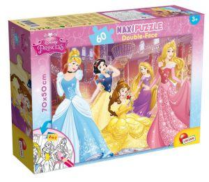 Puzzle Lisciani  60 dílků MAXI  - oboustranné - Princezny  48250