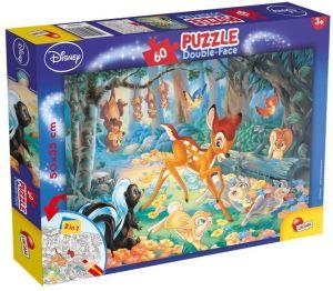 Puzzle Lisciani  60 dílků - oboustranné - Bambi - 47932