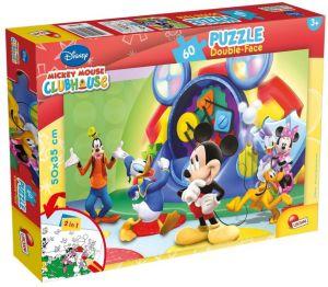 Puzzle Lisciani  60 dílků - oboustranné - Mickey - 47895