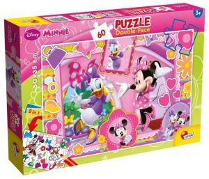 Puzzle Lisciani  60 dílků - oboustranné - Minnie - 47918