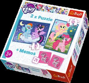 Puzzle Trefl  30 + 48 dílků + hra Memos ( pexeso ) MLP - My Little Pony 90601