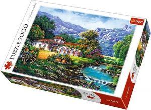 Puzzle TREFL 3000 dílků - Hacienda u řeky  33051