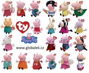TY Beanie Babies - Peppa Pig - prasátko Pepina Balerína - 15 cm plyšák - plyšová hračka