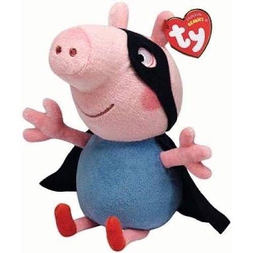 TY Beanie Babies - Peppa Pig - prasátko Pepina Superhrdina - 15 cm plyšák - plyšová hračka