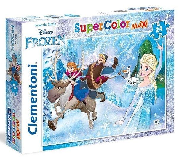 Clementoni puzzle 24 dílků MAXI - Frozen 24482