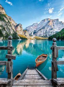 CLEMENTONI Puzzle 500 dílků Jezero Braies - Itálie 35039