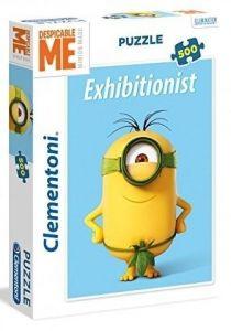 CLEMENTONI Puzzle 500 dílků -  Mimoni - Exhibicionista  35031