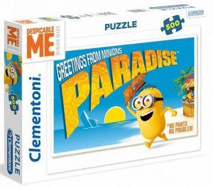 CLEMENTONI Puzzle 500 dílků -  Mimoni - Paradise 35030