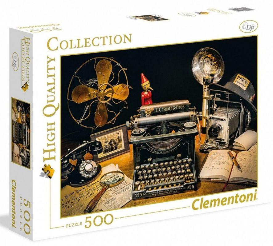 CLEMENTONI Puzzle 500 dílků - Psací stroj 35040
