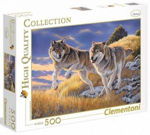 CLEMENTONI Puzzle 500 dílků -  Vlci  35033