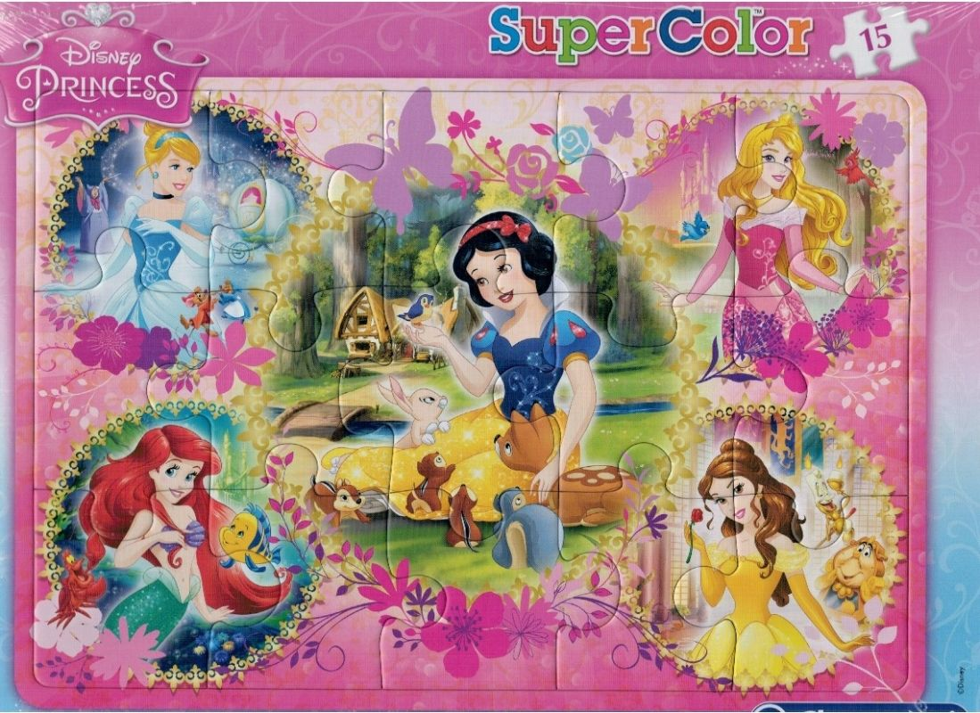 Deskové puzzle Clementoni - 15 dílků - Princezny - 22224b
