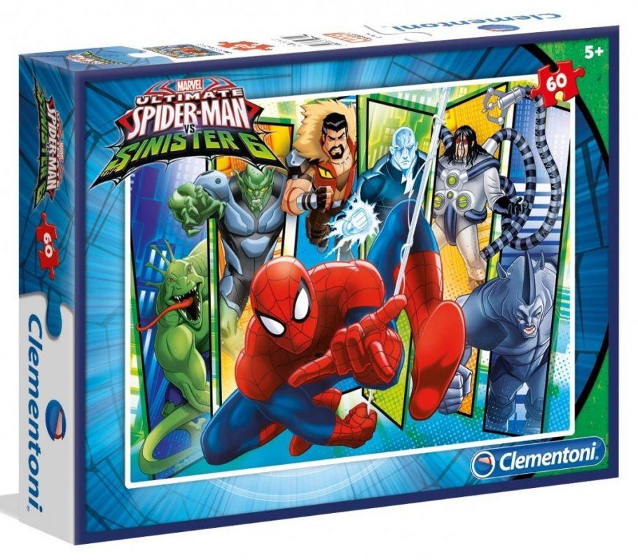 Dětské puzzle Clementoni 60 dílků - Spiderman 08429