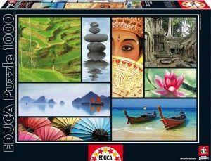 EDUCA Puzzle 1000 dílků  Barvy Asie   -  16294