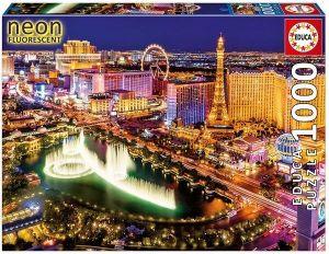 EDUCA Puzzle 1000 dílků  svítící - Las Vegas   16761