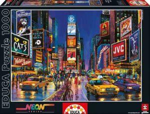 EDUCA Puzzle 1000 dílků  svítící - Times Square New York  13047