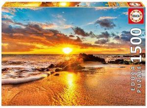 EDUCA Puzzle 1500 dílků   Západ slunce - touha v Maui  16771
