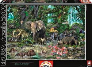 EDUCA Puzzle 2000 dílků  Africká džungle  16013