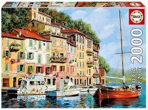 EDUCA Puzzle 2000 dílků   Červená loď  16776