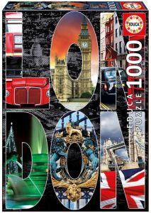 EDUCA Puzzle Koláž Londýn 1000 dílků -  16786