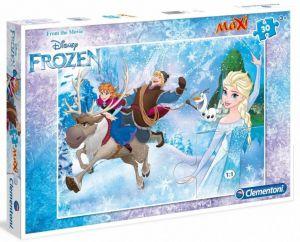 Podlahové puzzle Clementoni 30  dílků MAXI  - Frozen  07436