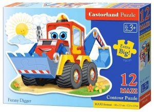 Puzzle Castorland 12 dílků MAXI - Bagr 120024