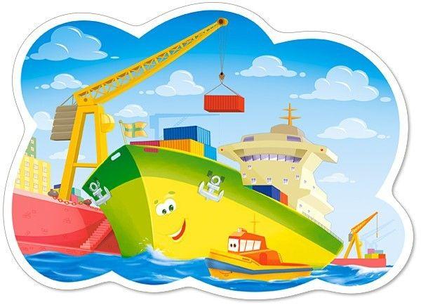 Puzzle Castorland 12 dílků MAXI - Den v přístavu 120130