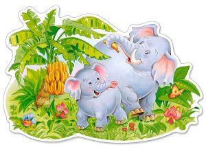 Puzzle Castorland 12 dílků MAXI - Hrající si sloni  120116