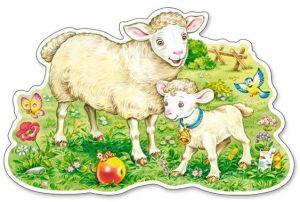 Puzzle Castorland 12 dílků MAXI - Jehňátko s ovečkou 120079