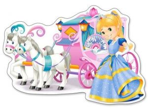 Puzzle Castorland 12 dílků MAXI - Kočár s princeznou  120017