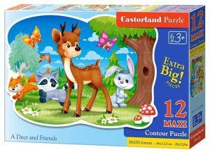 Puzzle Castorland 12 dílků MAXI - Koloušek a kamarádi 120154