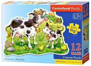 Puzzle Castorland 12 dílků MAXI - Kravičky na louce 120062