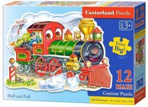 Puzzle Castorland 12 dílků MAXI - Lokomotíva 120055