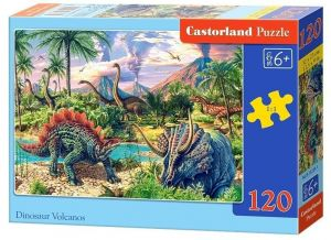 Puzzle Castorland 120 dílků - Dinosauří vulkán 13234