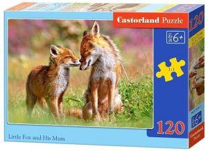Puzzle Castorland 120 dílků - Liška s mládětem 13241