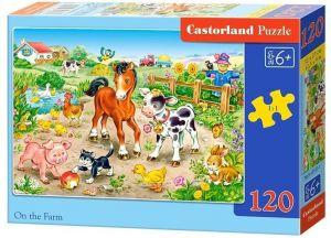 Puzzle Castorland 120 dílků - Na farmě  13197